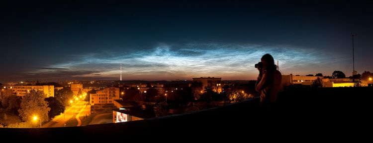 20090804 - Noctilucent Clouds Above Vilnius, Lithuania