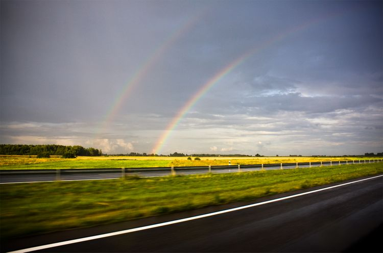 20090917 - Double Rainbow Over Kaunas, Lithuania
